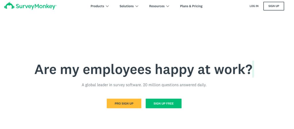 Enquête-tools voor evenementen: SurveyMonkey.