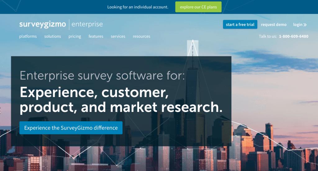Enquête-tools voor evenementen: Survey Gizmo.