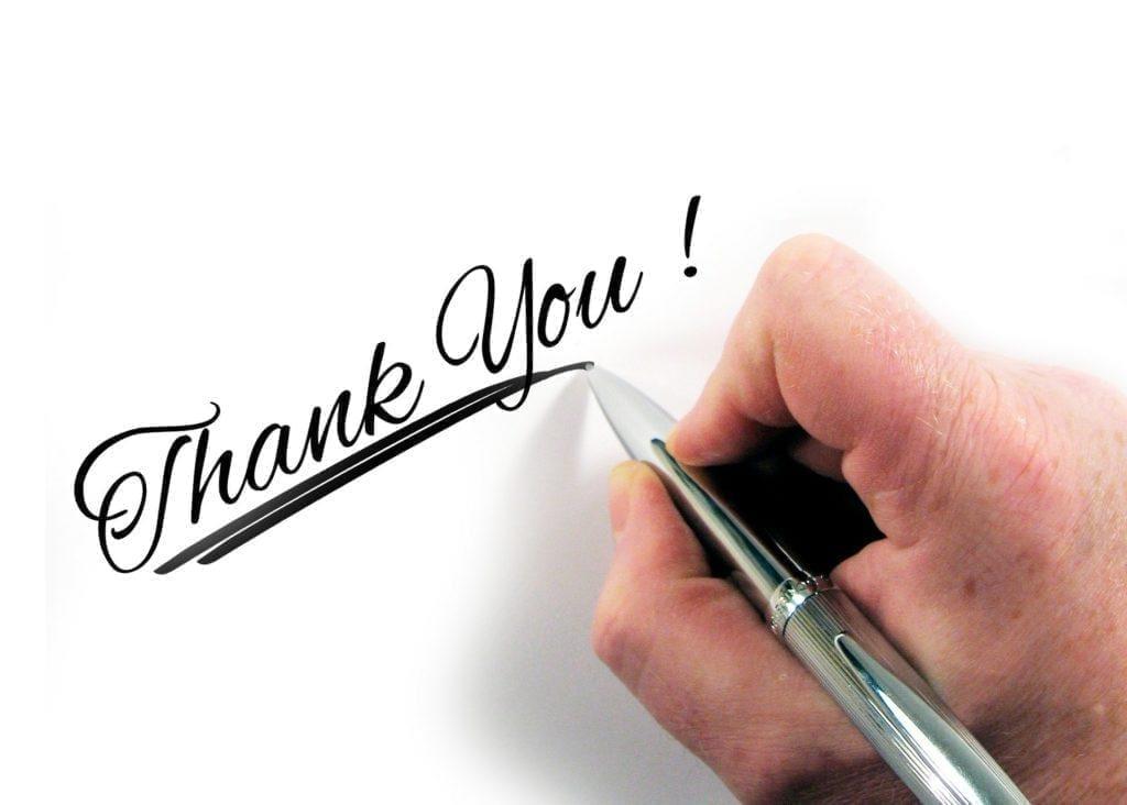 Hoe Doe Je Aan Follow-up Na Een Sportevenement: Bedank alle betrokkenen.